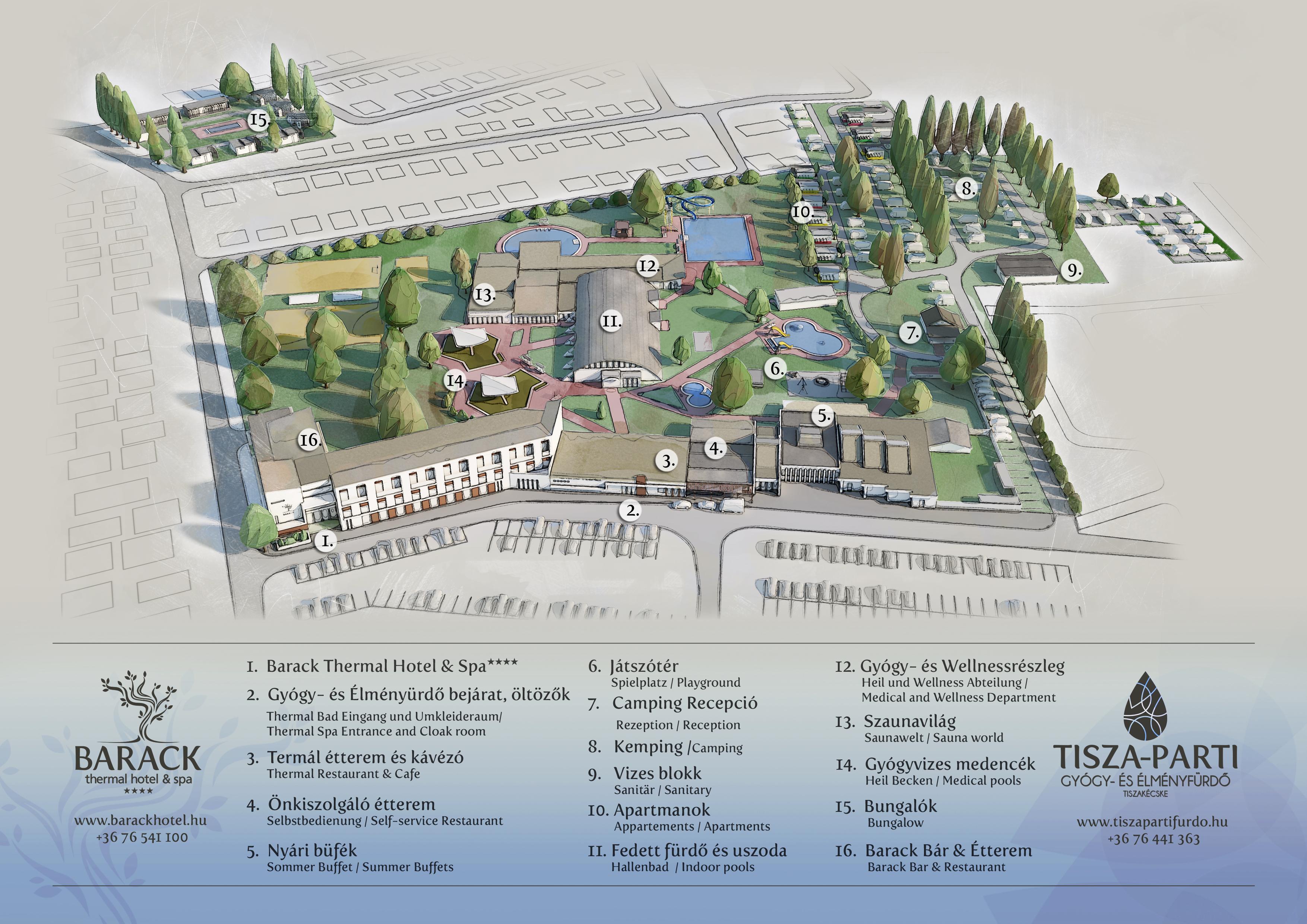 magyarország térkép tiszakécske Thermal Camping   Tisza parti Gyógy  és Élményfürdő Kemping magyarország térkép tiszakécske